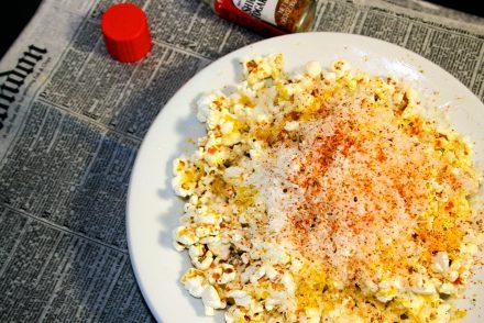 pop corn au parmesan et épices japonaise