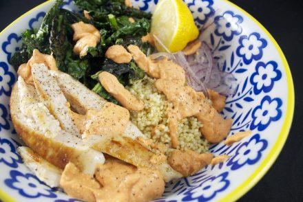 salade de millet, poulet