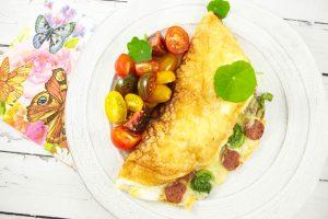 omelette soufflée aux blancs d'oeuf