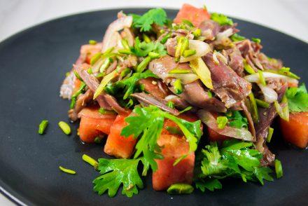 salade de canard et melon d'eau