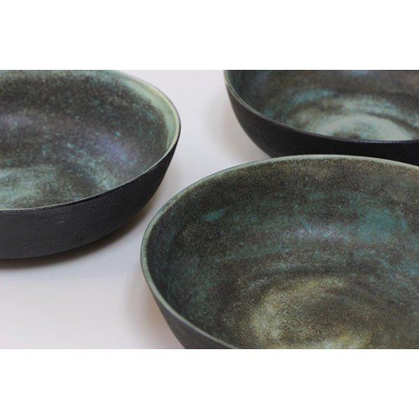 Set de bols en grès vert noir