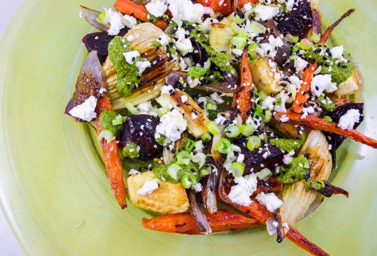 Salade de légumes braisés