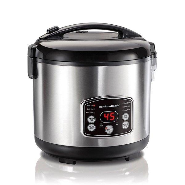 Cuiseur pour le riz marmite vapeur 20 tasse HAMILTON BEACH 52.49$ (en spécial)