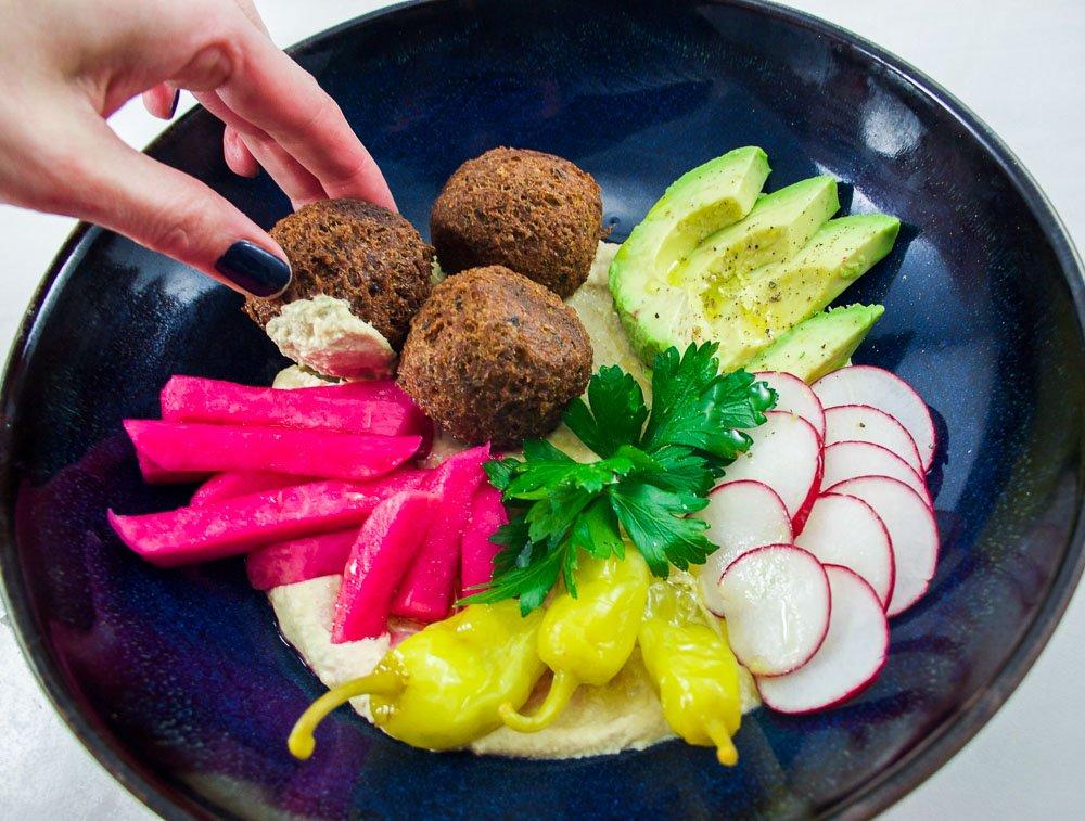 Falafels rapide hummus l 39 aubergine recette facile et gourmande milie gauthier - Cuisiner aubergine rapide ...