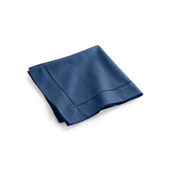 Napkin Hemstitch en lin bleu 7.19$