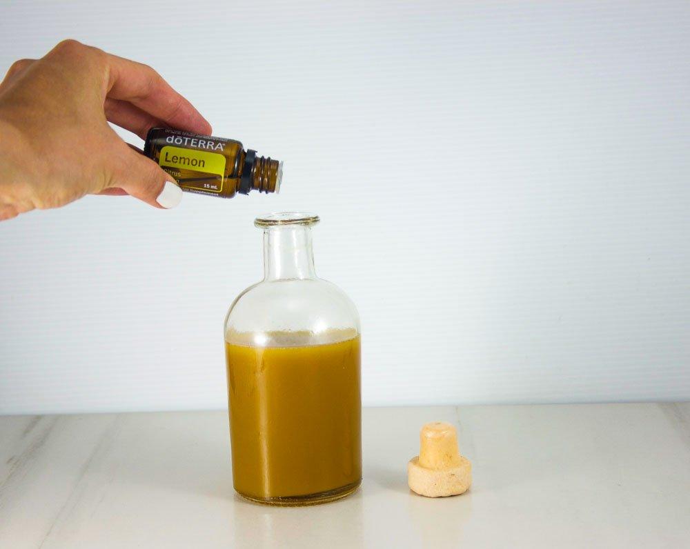 Vinaigrette à l'huile essentielle de citron