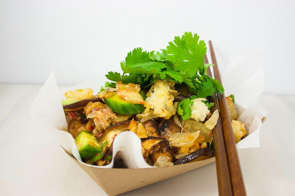 Salade asiatique aux champignons