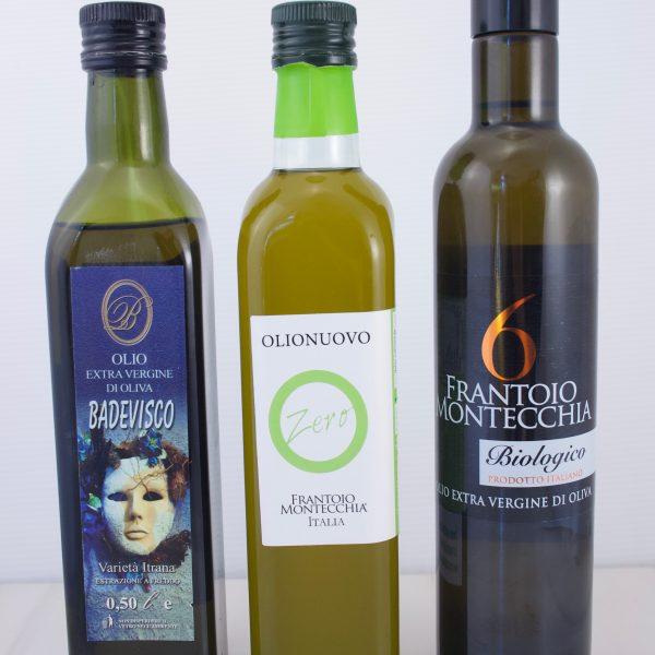 Trio d'huiles d'olives artisanales de première qualité (Italie)