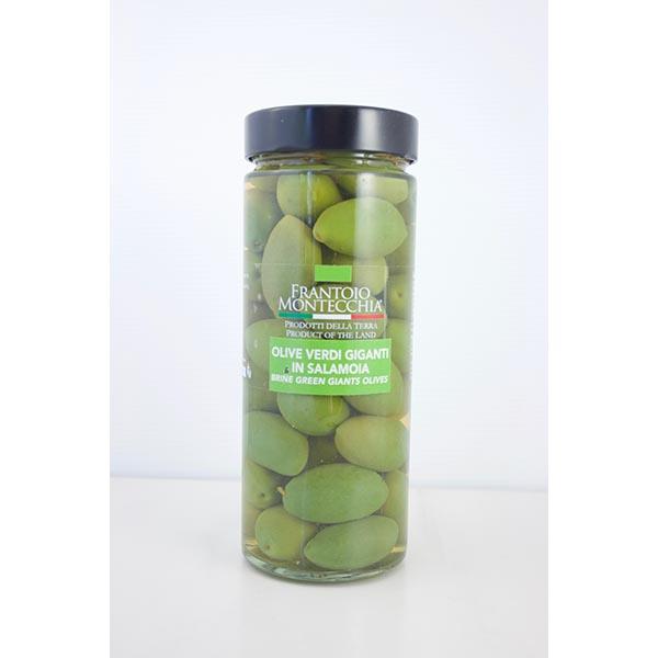 Olives vertes géantes dans la saumure (Italie)