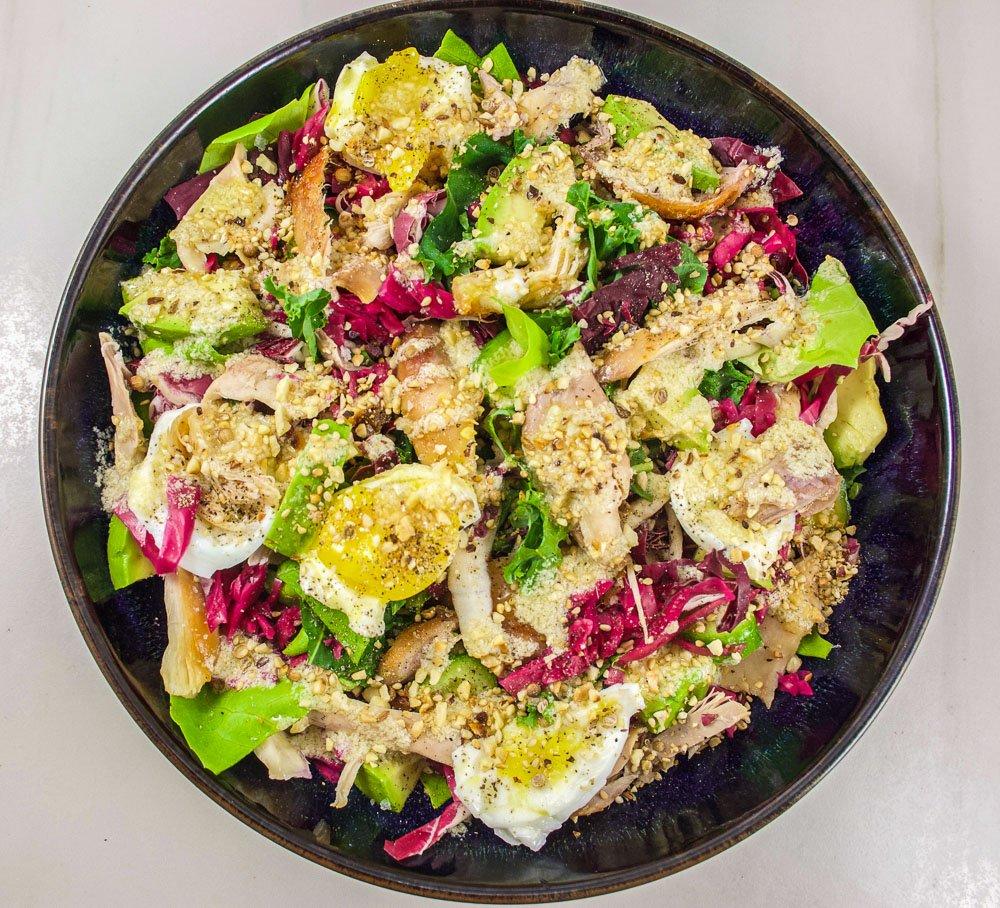 Salade de poulet et sésames