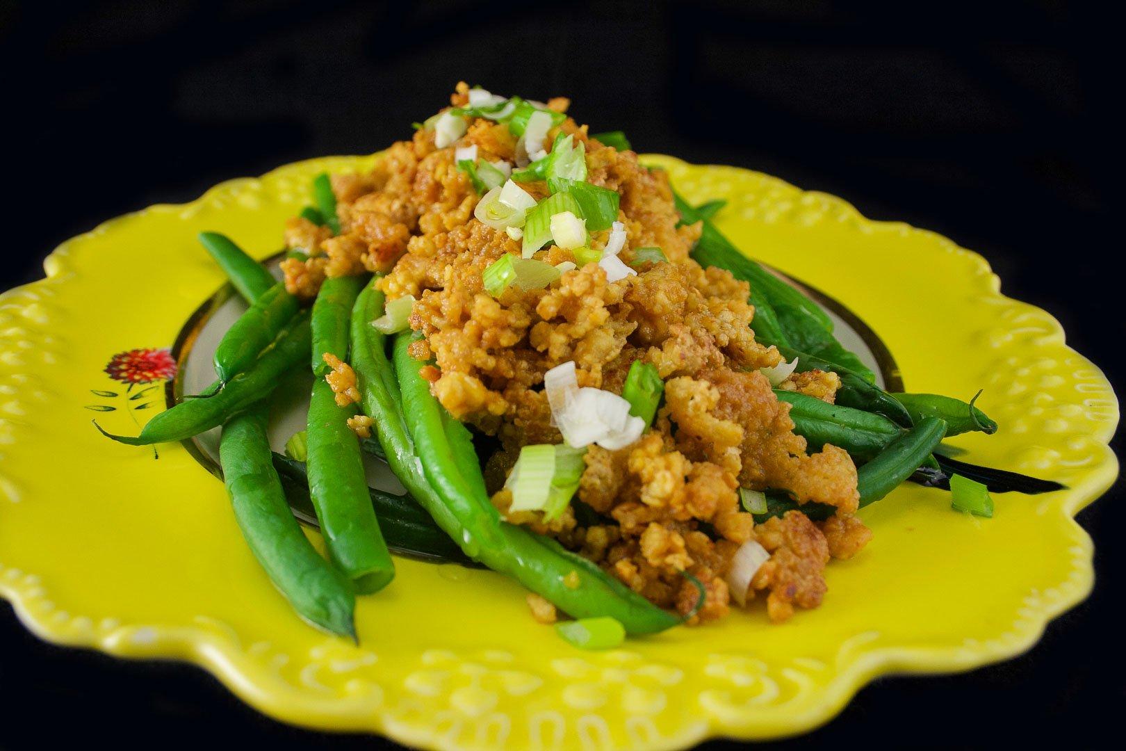 Haricots & tofu croustillant au tamari