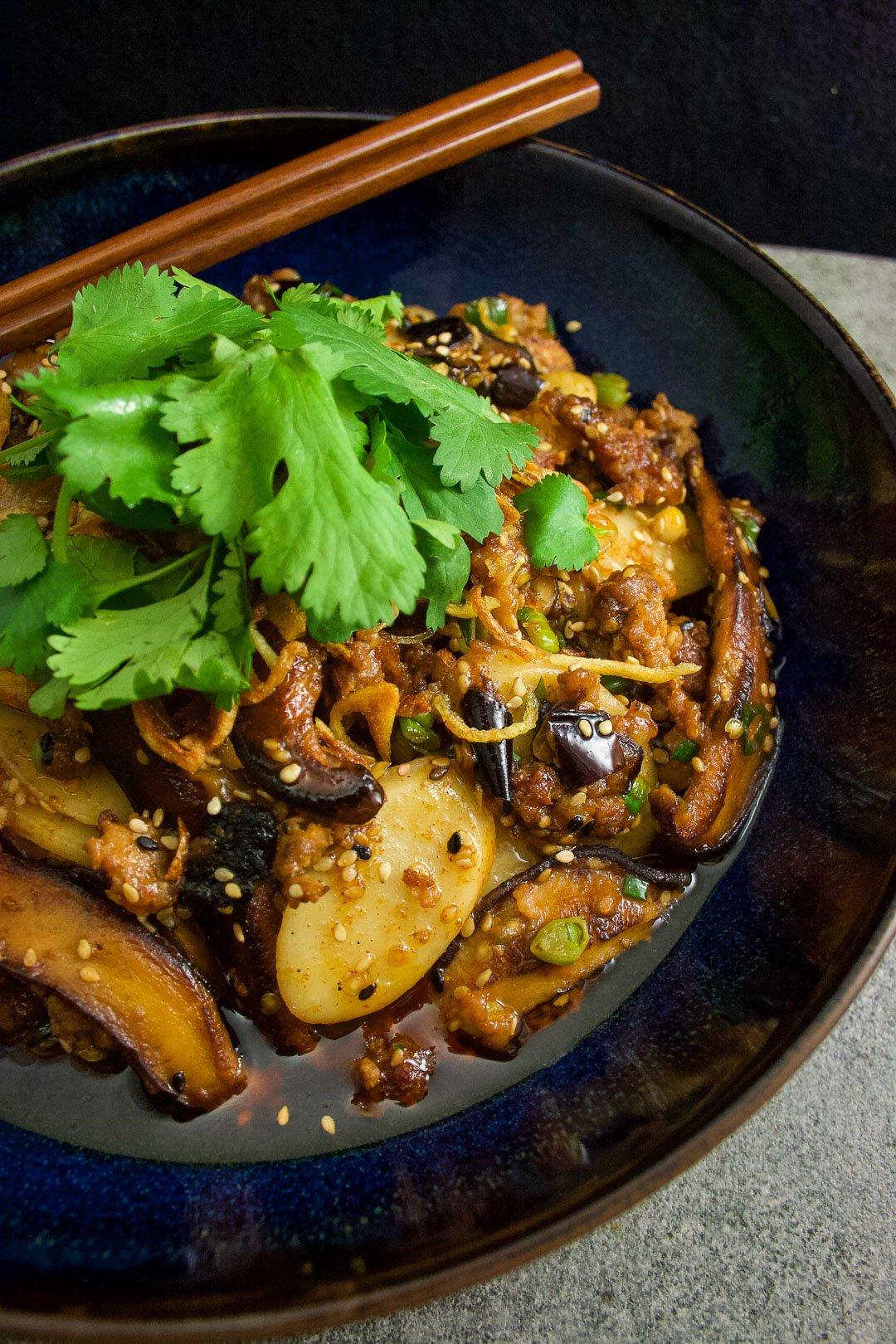 «Rice Cakes» au porc & shiitake