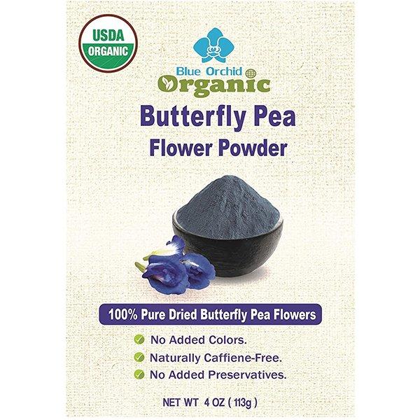 Poudre de fleurs de pois de papillon (matcha bleu)
