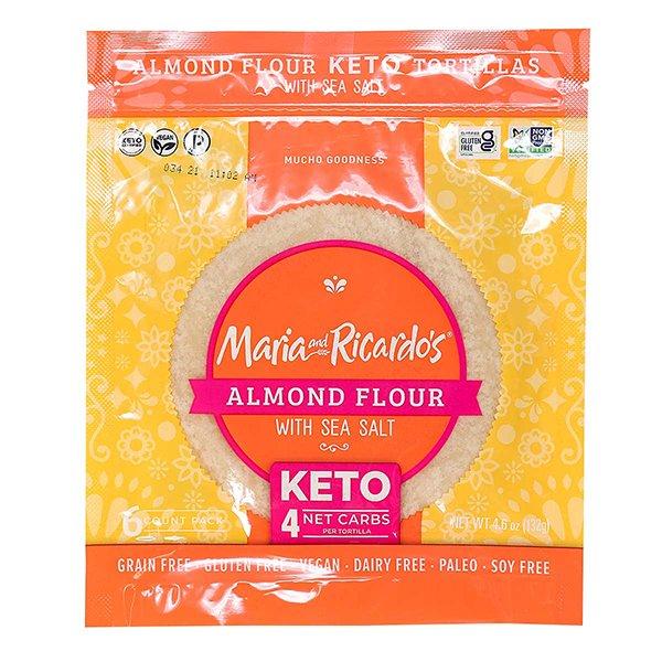 Tortilla à la farine d'amandes (Keto, Sans gluten)
